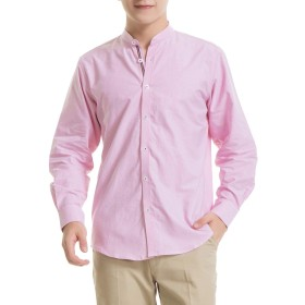 メンズ 長袖 シャツ 100%綿 オックスフォードシャツ メンズ ビジネス カジュアル シャツ 柔らかい 水洗い(RMOX001A, S)