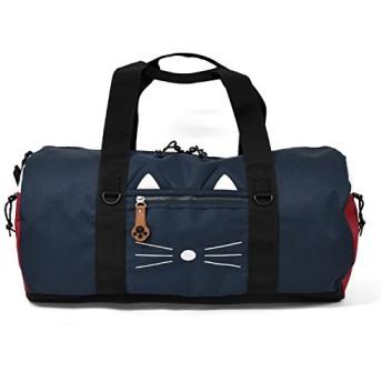 ボストンバッグ ナイロン 猫 2way (TRICOLORE)