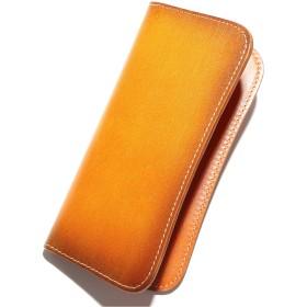 [2PiS(JP)] 【 薄くてかさばらない - シンプルな革財布 】 熟練した技術を誇る革職人が作る 長財布 メンズ 本革 レザー 薄型 財布 YKK製 ライトブラウン 2-1-10