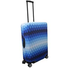 スーツケースカバー (L, 葉っぱ ブルー)