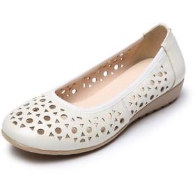 [Florai-JP] レディース パンプス ナースシューズ メッシュ 通気性 夏 フラット 可愛い 歩きやすい 柔らかい カジュアル 疲れない 軽い 屈曲性 痛くない シンプル オシャレ 妊婦靴 快適 ママの靴 白