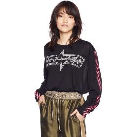 (ディーゼル) DIESEL レディース Tシャツ リヨセルコットン長袖グラフィックTシャツ 00SPEW0KIKA M ブラック 9XX