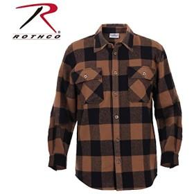 ロスコ ヘビーウェイトフランネルシャツ4667 (4XL, ブラウン)