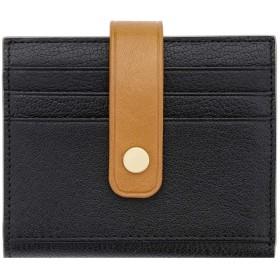 WALNEW カードケース カードホルダー カードカバー レディースクレジットカードケース 本革 バックル付き ミニ財布 小銭入れ