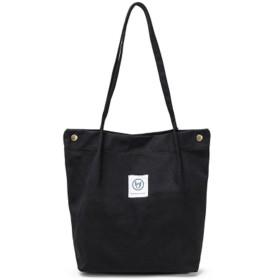Cocoria レディース トートバッグ 鞄 無地 キャンバス きれいめ おしゃれ バック 通勤 通学 A4 たてトート 縦型トートバッグ 帆布 黒