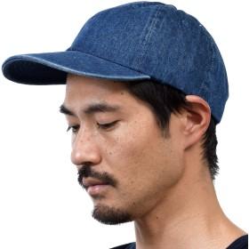 (ニューハッタン) NEWHATTAN CAP キャップ ベースボールキャップ 帽子 デニム 無地 カーブキャップ (FREE(56~66cm), ダークブルー) [並行輸入品]