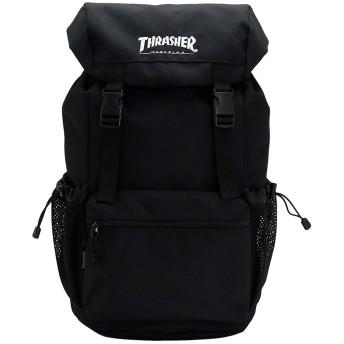 THRASHER スラッシャー バッグ リュック THRCD502 バックパック かぶせ ダブルベルト サイドメッシュポケット付き デイバッグ リュックサック 男女兼用 [並行輸入品]