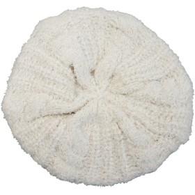 ドリームウォーク 帽子 ベレー帽 もこもこニットベレー帽 (Freeサイズ Vanilla) ボア ふわふわ ニットベレー