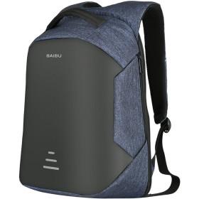 バックパック 盗難防止バックパック ビジネスリュック ラップトップバックパック 耐衝撃USB充電 軽量 防水 大容量 多機能のポケット 出張 アウトドア 旅行バッグ リュックサック 大容量 通勤 通学 人気 メンズ レディース (ブルー)