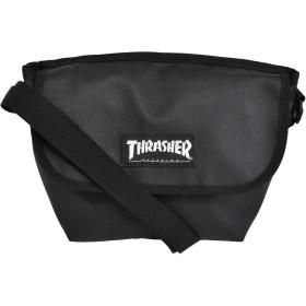 [スラッシャー] THRASHER カブセ ミニ ショルダーバッグ メッセンジャーバッグ BLACK/MAG LOGO