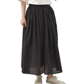 (アール・ピー・エス) r・p・s コットンボイルロングスカート 0340300034 M ブラック