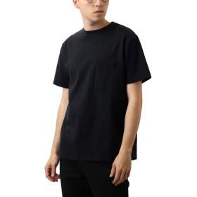 [REPIDO (リピード)] Goodwear ビッグ Tシャツ 半袖 無地 クルーネック メンズ カットソー トップス ブラック Lサイズ