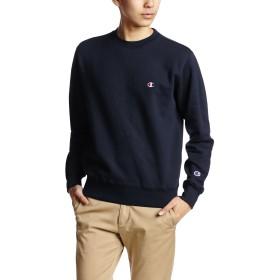 [チャンピオン] ワンポイントロゴ クルーネック スウェットシャツ ベーシック C3-C024 メンズ ネイビー 日本 XL (日本サイズXL相当)