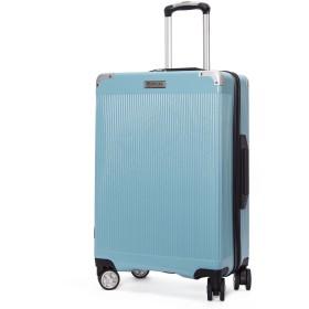 クロース(Kroeus) スーツケース ファスナー式 大型キャスター 8輪 静音 キャリーケース 大容量 軽量 旅行 出張 TSAロック搭載 エンボス加工 傷に強い ソフトなハンドル 取扱説明書付 S ブルー