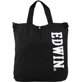 (エドウィン) EDWIN 2WAY ビッグロゴ ショルダートート トートバッグ 0411352 (ブラック×ホワイト(bkwh))