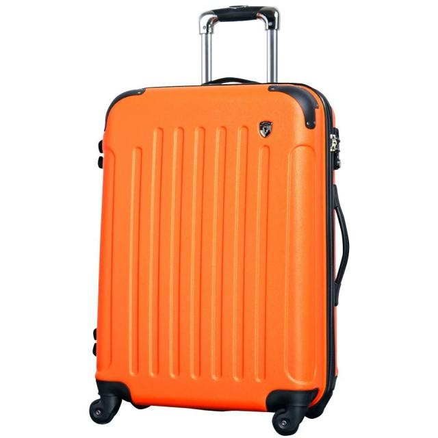 S型 オレンジ / newFK10371 スーツケース キャリーバッグ 軽量 TSAロック (2~4日用) マット加工 ファスナー開閉タイプ