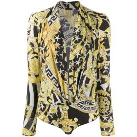 Versace バロックプリント ボディスーツ - ブラック