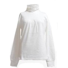 (Sweeml) スウィミル タートルネック アンゴラ、羊毛混 胸元切換え プリーツ くしゅくしゅ ニット カットソー 長袖 薄手ニット