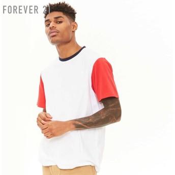 FOREVER21 フォーエバー21 【[MEN]カラーブロックコットンTシャツ】(5,000円以上購入で送料無料)