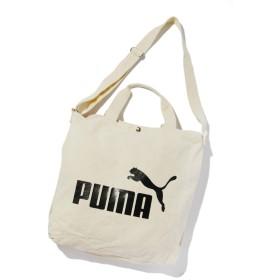 SPINNS PUMA(プーマ)ロゴトートバッグ オフホワイト -