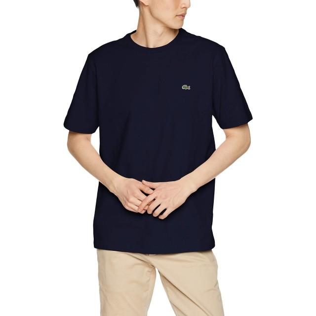 [ラコステ] 鹿の子クルーネックTシャツ メンズ TH635EM ネイビー EU 004 (日本サイズL相当)