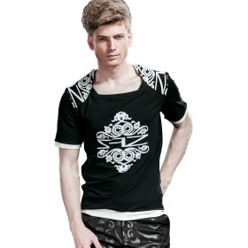 FANZHUAN tシャツ おしゃれ メンズ 半袖 黒 tシャツ メンズ 半袖 tシャツ半袖 メンズセール