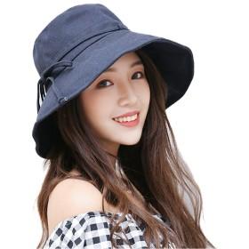 アンミダ(ANMIDA)ハット 軽量 つば広  帽子 女性用 ハット  日焼け帽子 UVカット UV 日よけ 折りたたみ 女優帽 レディース 春 夏