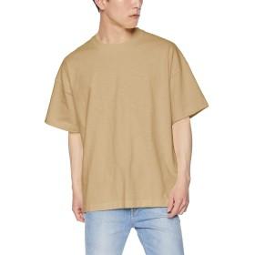 [ウィゴー] WEGO ヘビー スラブ ビッグ T シャツ 半袖 L ベージュ メンズ