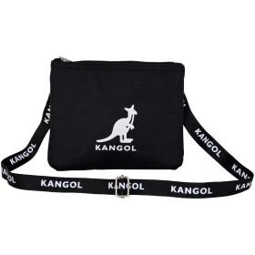 [カンゴール] ショルダーバッグ KANGOLロゴプリントベルト サコッシュバッグ ポシェット ブラック