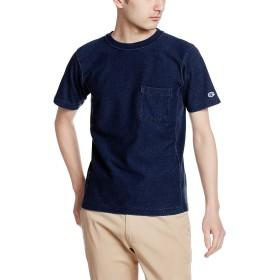 [チャンピオン] リバースウィーブ ポケット付きTシャツ C3-H307 メンズ インディゴ 日本 M (日本サイズM相当)