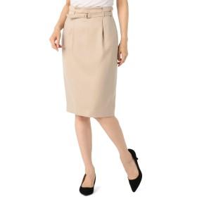 (ノーリーズ) NOLLEY'S サテンカルゼベルト付きスカート 8-0035-5-06-012 38 ベージュ