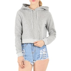 Tootess Women's Summer Cool Solid Color Classic Fit Tracksuit Top Light Grey S