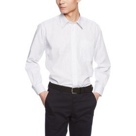 [ドレスコード101] 長袖 ワイシャツ メンズ (選べる ビジネスでもカジュアルでも使える レギュラーカラー) 形態安定 シャツ SB RG4006 ホワイト(チェック) M