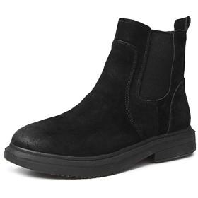 [HR株式会社] レディースブーツ ブーティ ショートブーツ フラットヒール シューズ サイドゴア 通学 防寒 防滑 歩きやすい サイズ22.5cm-25.0cm ブラック25センチ