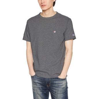 [チャンピオン] ワンポイントロゴTシャツ ベーシック C3-P300 メンズ ヘザーチャコール 日本 M (日本サイズM相当)