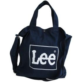 [リー] Lee トート ショルダー バッグ 2way キャンバス 帆布 ロゴ ネイビー