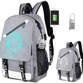 SBOYS(エスボーイズ) リュック バックパック USBポート付き 充電 夜光効果 自然発光 蛍光 大容量 多機能 ラップトップ収納可 女の子 男の子 ユニセックス 男女兼用 中学生 高校生 レジャー カジュアル 可愛い ファッション メンズ レディース (デザイン3)