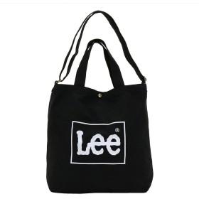 リー Lee コットン ビッグ2wayトートバッグ ショルダーバッグ A4収納 大容量 0425371-BLK