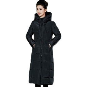 Aisaidunダウンコート レディース スリム シンプル ダウンジャケット フード付き 通勤 防寒コート カジュアル 上品黒T