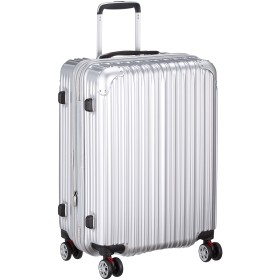 [シフレ] ハードジッパースーツケース キャリーケース 容量アップ拡張機能付 Mサイズ 中型 1年保証付 62-68L TRIDENT トライデント TRI2035-56 保証付 68L 56 cm 3.8kg シルバー