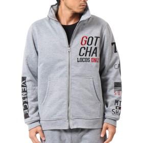 [ガッチャ] GOTCHA ジャケット ジップアップ 防風 ストリート ボリュームネック 183G1320 杢グレー L