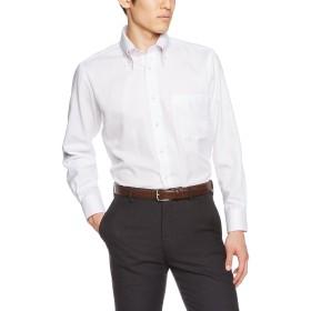 [ドレスコード101] 長袖ワイシャツ メンズ (形態安定 ワイシャツ) ビジネス Yシャツ SHIRT-Z Z052 ホワイト×ピンク(ストライプ) S