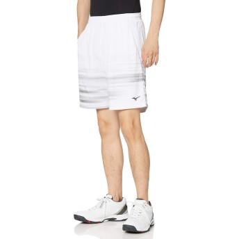 [ミズノ] テニスウェア ゲームパンツ 吸汗速乾 ドライ 部活 練習 試合 ソフトテニス バドミントン認定 男女兼用 62JB8011 ホワイト XS
