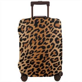 スーツケースカバー キャリーカバー セクシーレオパードグレイン 柄 伸縮弾性素材 防塵 防塵カバー 盗難 雨 汚れ 国内 海外旅行 便利 おしゃれ