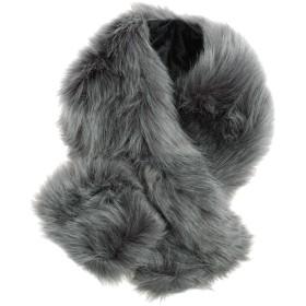 メンズストール専門店MORE Style 口05-グレー口フォックスファー調マフラー ファー ファーマフラー メンズ