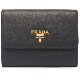 (プラダ) PRADA 財布 レディース ロゴ レザーウォレット 1MH523QWA F0002 NERO BLACK [並行輸入品]
