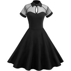 OQC フォーマル ドレス レディース ドレス 結婚式 ドレス パーティー ドレス ワンピース 演奏会 綺麗 細身 エレガント ブラック (ブラックA, XL)