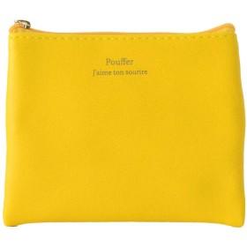 ミニバッグにもすっぽり入るミニポーチ。ポケットティッシュケース付き カラフル コスメポーチ シンプル カラフル 小さいサイズ (イエロー)