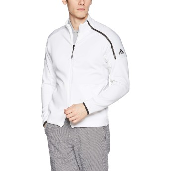 [adidas Golf(アディダスゴルフ)]ブルゾン AD 19SS FVE66 S WH L/S スウェット DW6262 メンズ ホワイト 日本 S (日本サイズS相当)
