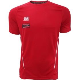 (カンタベリー) Canterbury メンズ チーム 吸湿ドライ 半袖スポーツTシャツ トレーニングトップス トレーニングシャツ 男性用 (XXL) (レッド/ホワイト)